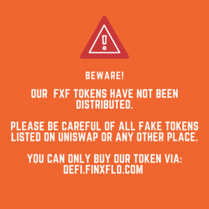 Beware of fake Finxflo (FXF) Tokens!